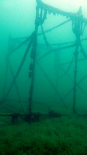 Baurüstung im Kulkwitzer See